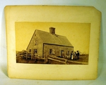 Antique photograph of Oldest House Nantucket