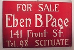 Antique sign from SCITUATE