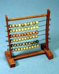 Antique TOY wooden and bead ABACUS