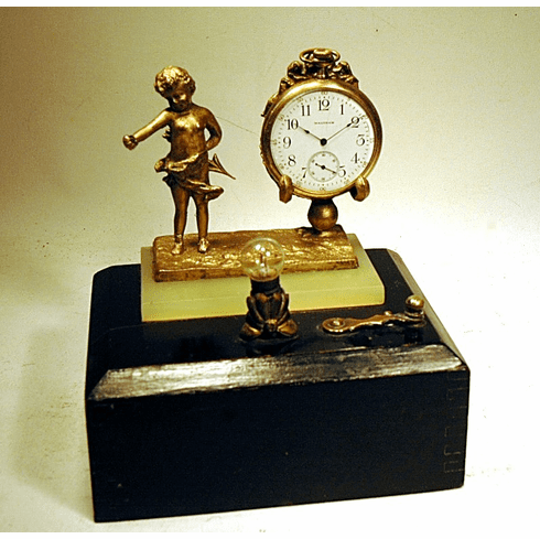Antique watch holder with light