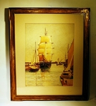 Antique watercolor of New Bedford by James Cree 1919