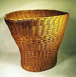 Antique wicker WASTE BASKET