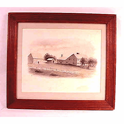Black and white drawing of old Cape Cod