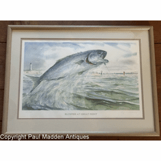 Bluefish at Great Point Nantucket Print by George C. Thomas