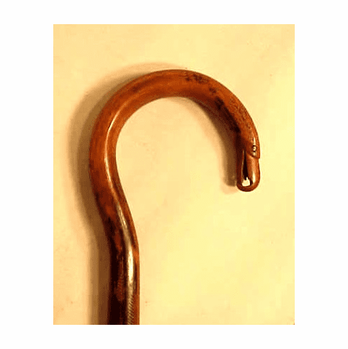 Carved wooden cane with American Eagle head