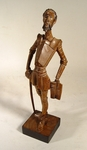 Carved wooden figure of Don Quixote