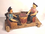 Charming nautical diorama of two old salts.