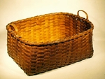 Choice antique rectangular splint basket