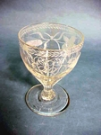 Early 19th C. blown and engraved rummer glass