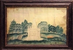 Early 19th C. Watercolor Memorial from Lexington, Mass.