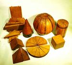 Interesting collection of carved teaching geometric examples.