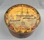 Nantucket Tony Sarg Round Box with Whaling Scene