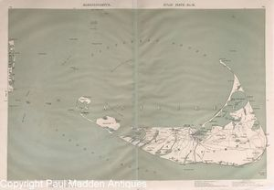 Original 1891 Walker Map of Nantucket