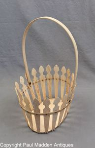 Antique Scrimshaw Basket