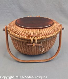 Vintage Nantucket Lightship Basket Purse by Paul Whitten 1983
