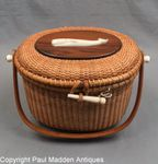Vintage Nantucket Lightship Basket Purse by Paul Whitten 1971