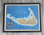 Vintage Map of Nantucket by Roy Clifford Smith