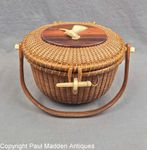 Vintage Nantucket Lightship Basket Purse by Stephen Gibbs