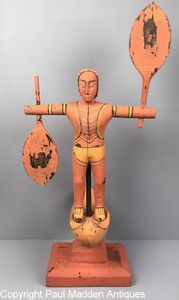 Antique Folk Art Indian Whirligig Sculpture