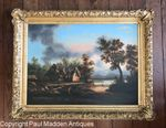 Oil on canvas landscape attributed to Thomas Chambers
