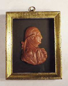 Old wax portrait of George Washington by Borghese