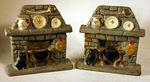 Pair antique American bookends FIREPLACE-HEARTH