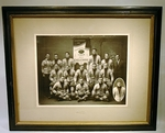 Pair antique FOOTBALL CHAMPIONSHIP  team photographs.