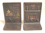 Pair cast iron bookends - HEARTH and HOME