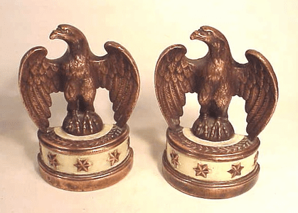 Pair of antique American Eagle bookends