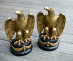Pair of Gilt Plaster Eagle Bookends