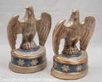 Pair of Vintage Blue Eagle Bookends by Marion Brothers