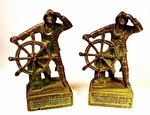 Pair of vintage cast bronze BOOKENDS