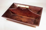 Rare and choice antique scrimshaw cutlery tray