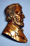 Rare antique American cast brass LINCOLN head profile