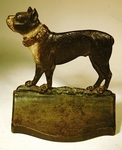 Rare antique cast iron BULL DOG bookend.