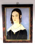Rare antique portrait of a young lady attributed to Wm. Prior.