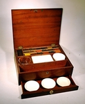Rare antique WATERCOLOR PAINT BOX circa 1850