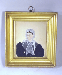 Rare antique watercolor portrait from Nantucket