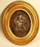 Rare cast silver Washington memorial bust