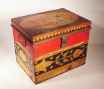 Rare painted and decorated BREAD BOX  by TONY SARG