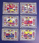 Rare set of six TONY SARG Nantucket napkins
