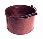 Rare tin cranberry pail
