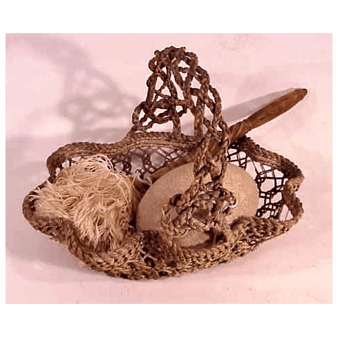 Sailor's woven basket and mop
