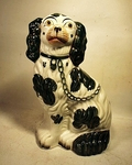 Ubusual antique STAFFORDSHIRE SPANIEL