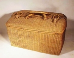 Unusual antique woven carrying bag.