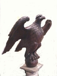 Very large carved wooden EAGLE