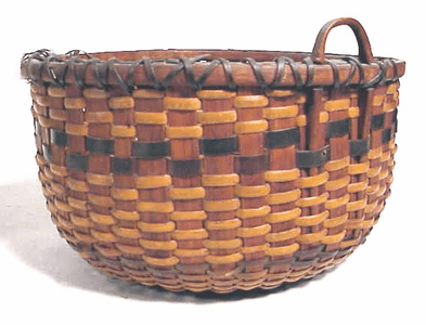 Very rare early Nantucket Lightship basket dated 1860