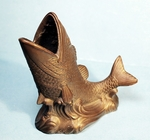 Vintage cast metal FISH desk piece