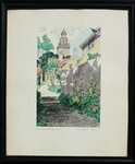 Vintage color print of Stone Alley, Nantucket