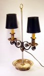Vintage quality brass adjustable double light lamp.
